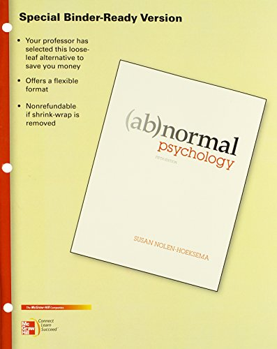 9780077516154: Looseleaf for Abnormal Psychology