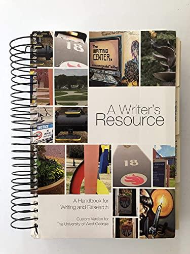 A Writer's Resourced. A Handbook for Writing: Elaine P. Maimon,