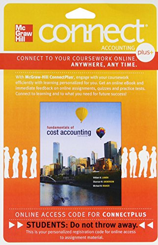 9780077517359: Connect Plus Accounting with LearnSmart 1 Semester Access Card for Fundamentals of Cost Accounting
