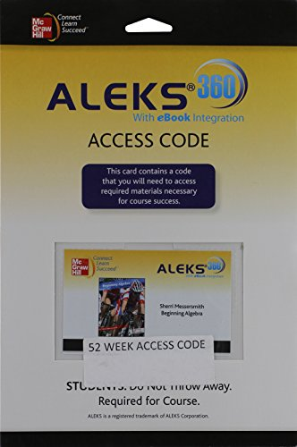 9780077517984: ALEKS 360 Access Card 52 Weeks for Beginning Algebra