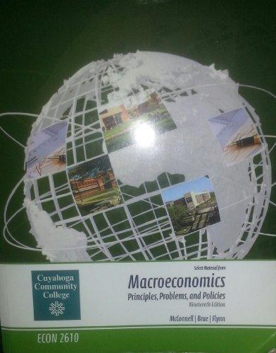 9780077518226: Macroeconomics Principles, Problems, and Policies (Select Materials from Macroeconomics Principles, Problems,.