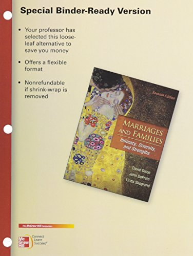 9780077518530: LOOSELEAF FOR MARRIAGES AND FAMILIES: INTIMACY DIVERSITY & STRENGTHS