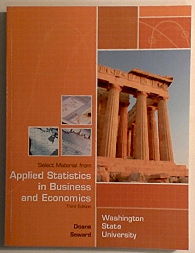 9780077518585: Applied Statistics in Business and Economics, 3rd Edition