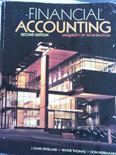 9780077519858: Financial Accounting Second Edition University of Washington