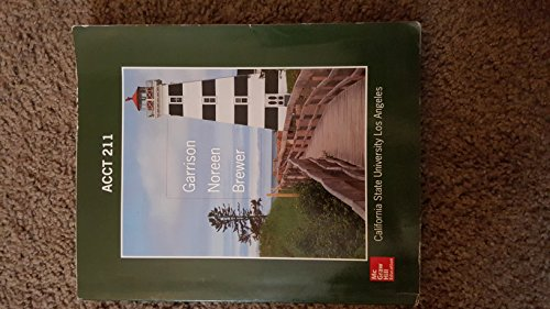 9780077519971: Managerial Accounting : Special Edition for California State University Los Angeles
