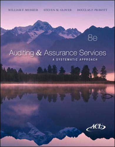Auditing & Assurance Services: A Systematic Approach: Prawitt, Douglas, Glover,
