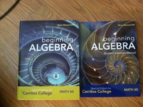 9780077521110: Beginning Algebra Special Edition for Cerritos College (MATH 60, Sherri Messersmith)