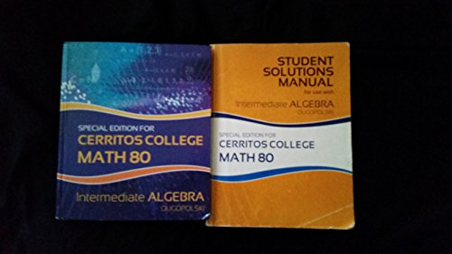 Cerritos College Math 80 7th Edition and Student Solution Manual Books: The Mc.Graw-Hill Companies ...