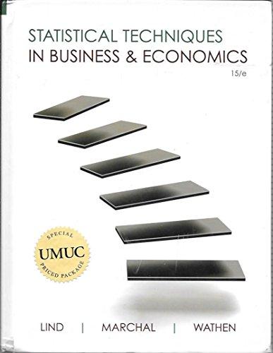 9780077522186: Statistical Techniques in Business & Economics