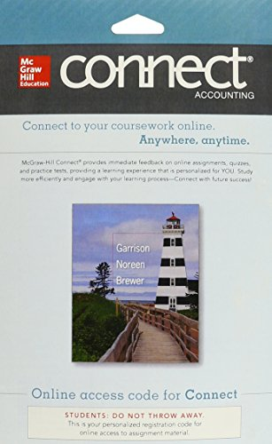 9780077522834: Connect Accounting with LearnSmart 1 Semester Access Card for Managerial Accounting