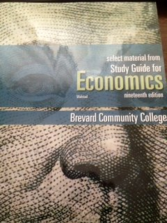9780077524845: Select Material from Study Guide for Economics: Brevard Community College 19th Edition