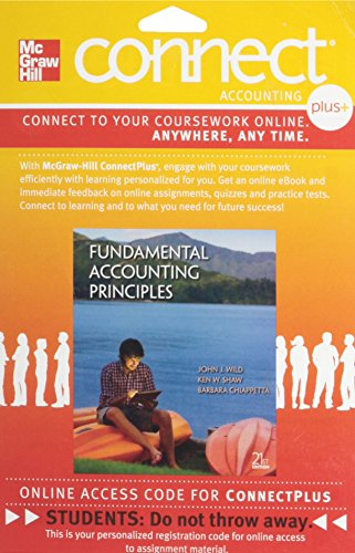 Fundamental accounting principles connect by john wild abebooks connect 2 semester access card for fundamental accounting wild john shaw fandeluxe Images