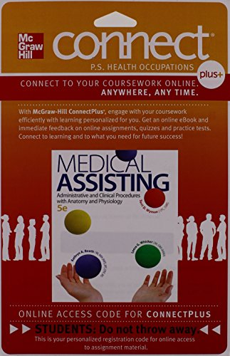 9780077525903: Connect 2-Semester Access Card for Medical Assisting: Administrative and Clinical Procedures