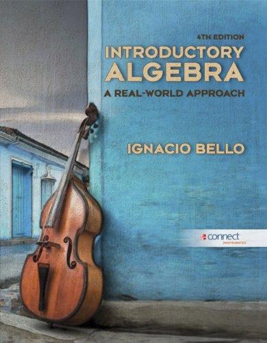 Introductory Algebra with Connect Access Card: Bello, Ignacio