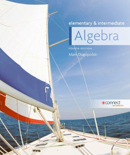 9780077526900: Elementary and Intermediate Algebra