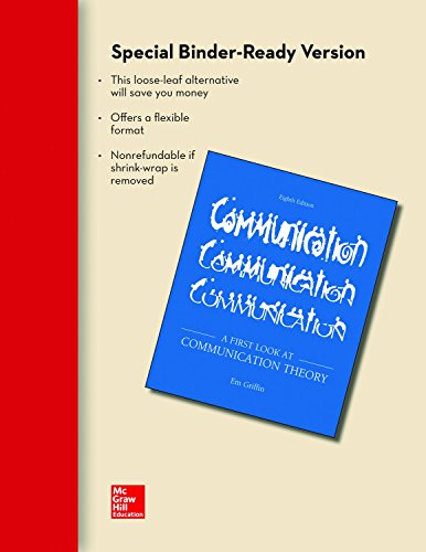 9780077527464: Looseleaf for A First Look at Communication Theory