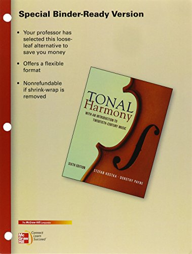 9780077527785: Looseleaf for Tonal Harmony