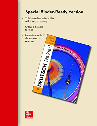 9780077527846: LOOSELEAF FOR DEUTSCH: NA KLAR AN INTRODUCTORY GERMAN COURSE (STUDENT EDITION)