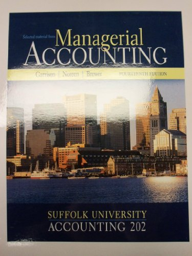 9780077528959: Managerial Accounting [14e] (Selected Material for Suffolk University | Accounting 202)