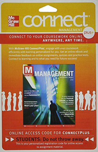 9780077530594: Connect 1-Semester Access Card for M: Management