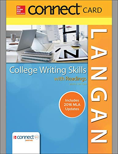 9780077531256: Connect Access Card for Langan's College Writing Skills with Readings