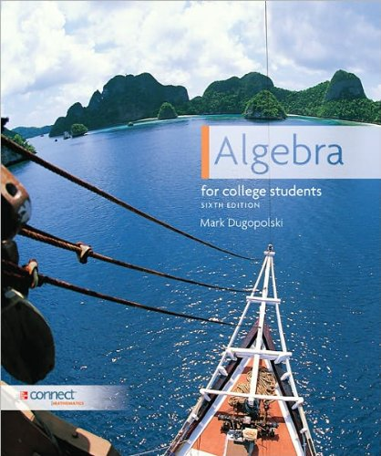 9780077533496: Algebra for College Students (Algebra for College Students by Mark Dugopolski)