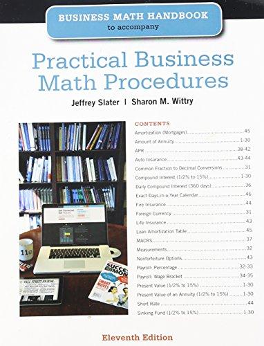 Practical Business Math Procedure (Paperback): Jeffrey Slater