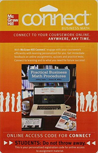 9780077533816: CONNECT BUSINESS MATH WITH LEARNSMART 1 SEMESTER ACCESS CARD FOR PRACTICAL BUSINESS MATH PROCEDURES 11E