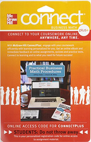 9780077533847: Connect 1-Semester Access Card for Practical Business Math Procedures