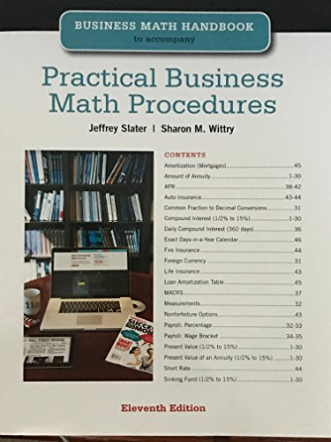 9780077534011: Practical Business Math Procedures Eleventh Edition