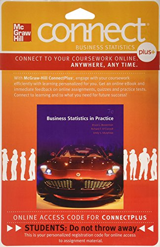 9780077534752: CONNECT PLUS STATISTICS 2S ACCESS CARD FOR BUSINESS STATISTICS PRACTICE