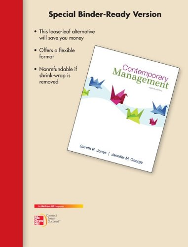 Contemporary Management, 8th Edition: Jones, Gareth R.;