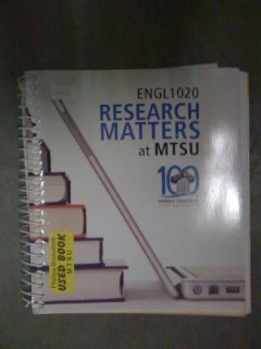 9780077536763: English 1020 Research Matters at MTSU