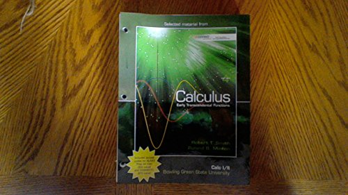 9780077536862: Calculus Early Transcendental Functions (Looseleaf), Calculus I/II Bowling Green State University, Edition 4