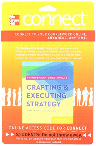 9780077537005: CONNECT ACCESS CARD FOR CRAFTING & EXECUTING STRATEGY: CONCEPTS AND CASES