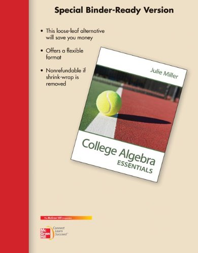 9780077538446: Loose Leaf Version for College Algebra Essentials