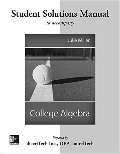 9780077538675: Students Solutions Manual For College Algebra