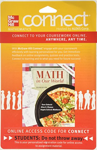 9780077539122: CONNECT MATH by ALEKS ACCESS CARD 52 WEEKS FOR MATH IN OUR WORLD