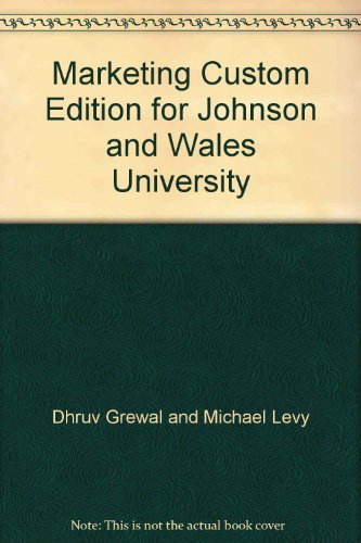 9780077540050: Marketing Custom Edition for Johnson and Wales University
