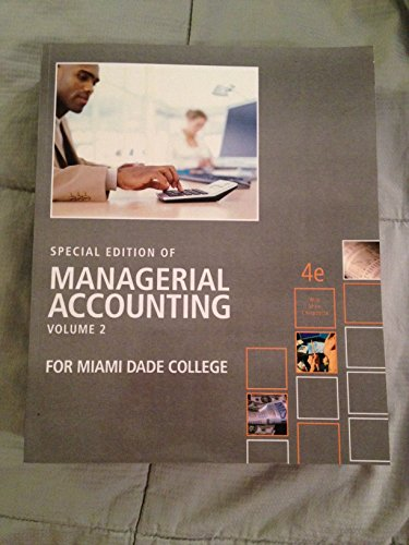 9780077540159: Special Edition of Managerial Accounting Volume 2 (2)