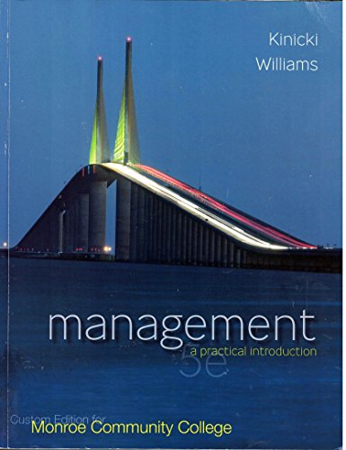 9780077540227: Management a Practical Introduction (Custom Edition for Monroe Community College)