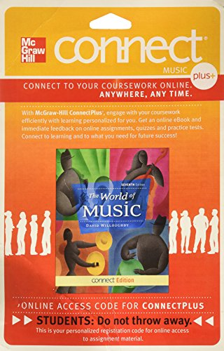 9780077540470: Connect Access Card for World of Music