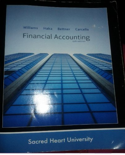Financial Accounting (Custom Edition for Sacred Heart: Various