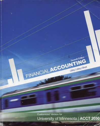 9780077543181: Financial Accounting: Customized Version of Minnesota / ACCT 2050