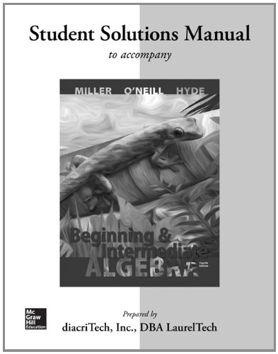 9780077543358: Student Solutions Manual for Beginning and Intermediate Algebra