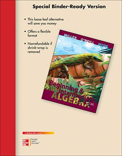 9780077543457: LOOSE-LEAF VERSION FOR BEGINNING & INTERMEDIATE ALGEBRA