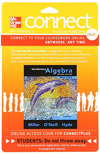 9780077543785: Connect Math hosted by ALEKS Access Card 52 Weeks for Introductory Algebra