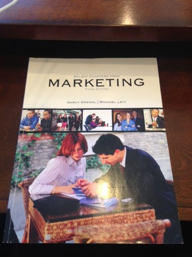 9780077545581: Select Chapters From Marketing Third Edition