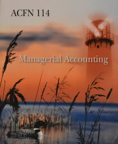 9780077546533: Managerial Accounting ACFN 114; Fourteenth Edition (ACFN 114)