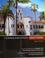 9780077546571: Communication Matters (Custom San Diego State University Edition)